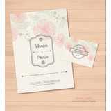 Tarjetas Participaciones Invitaciones Casamiento Boda