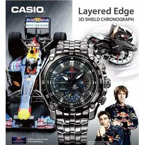 Relogio Casio Red Bull Ef-550 Preto Pendulo Original Oferta