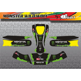 Calcos Karting Laminado Fibra De Carbono - Monster Ww