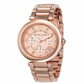 5ead02c521a5a Relógio Michael Kors Quadrado Feminino Ouro Rose Mk5571 - Relógios ...