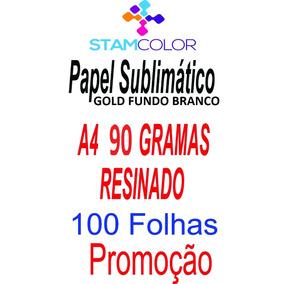 Papel Sublimatico, A4 90g Fundo Branco, Pacote 100 Folhas C3