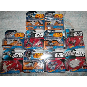 Star Wars Lote Naves Hot Wheels Halcon X Wing Jedi Tie Snow