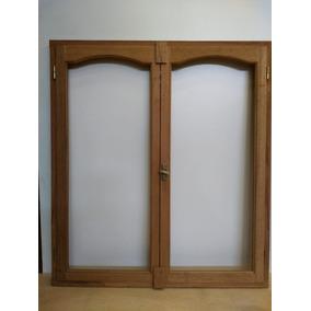 Ventana de madera vidrio entero aberturas en mercado for Mercadolibre argentina ventanas de madera