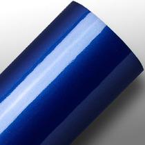 Adesivo Automotivo Ultra Brilho Azul Escuro Metalic 2,x1,38