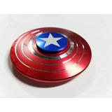 Fidget Spinner Capitan America Escudo Aluminio Metal