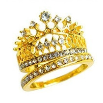 Anillo Corona, Alianza, Color Oro, Reina, Churumbela