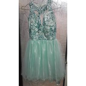 Vestido Fiesta Color Verde Menta