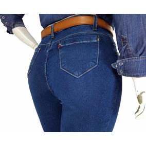 Calça Jeans Com Lycra Feminina Skinny Plus Size Cambos