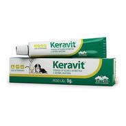 Keravit 5g Vetnil Pomada Oftálmica Antibiótica Cães Gatos