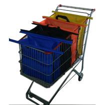 Kit Sacolas Supermercado 4 Bags C/ Uma Térmica Frete Gratis