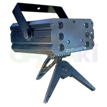 Laser Projetor Holográfico Raios Rgb Desenhos Vários Efeitos