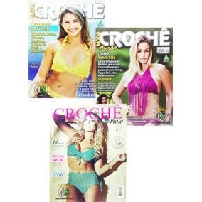 Kit 3 Revista Crochê Circulo Moda Biquíni Verão Praia