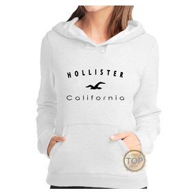 Blusa De Frio Hollister Feminino - Moletom Canguru Promoção b28413a7cbedf