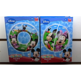 Set Mickey Mouse P/agua Salvavida,pelota Envio Gratis Caba