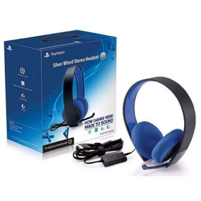Sony Silver Wired Stereo Headset Ps4 Ps3 Psvita