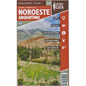 Mapa Rodoviário Do Noroeste Argentino Dobrável