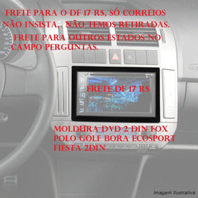 Moldura Dvd 2 Din Fox Polo Golf Bora Ecosport Fiesta 2din