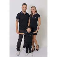 Pais E Filho Kit 3 Pçs Camisas Ou Body Polo E Vestido Azul