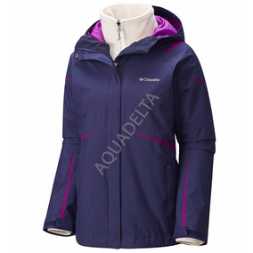 Campera Columbia 3 En 1 Mujer ¦ 1 Impermeable + 1 Polar
