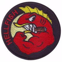 Hellfish Peces Del Infierno Series Parche Bordado Militar