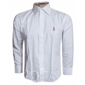 Camisa Social Ralph Lauren Branca Lisa Masculina Rl104