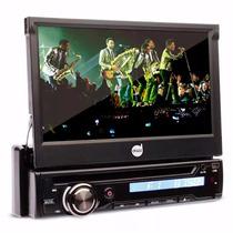 Toca Radio Cd Dvd Player Automotivo Retratil 7 Usb Bluetooth