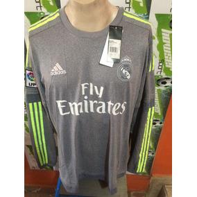 Jersey adidas Real Madrid 100%original 2015-2016 Manga Larga
