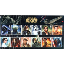 13 Timbres Postales De Star Wars Personajes Principales
