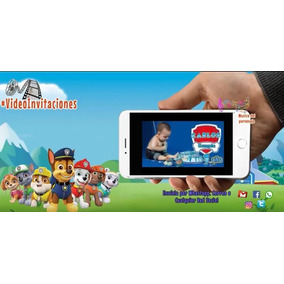 Invitacion Digital En Video De Paw Patrol-patrulla Canina
