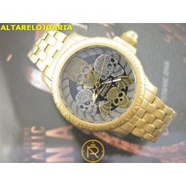 Relógio Invicta Artist Series Caveira Plaque Ouro 19858