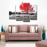 Quadro 70x100cm Árvore Vermelha Decorativo Frete Grátis