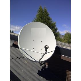Antena Satelital De 90 Ku + Soporte Para Lnb + Lnb Doble