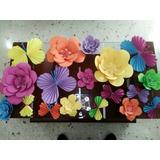 Rosetas De Mariposas Kpri 10cm, Banderines Pompones Flor
