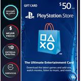 Playstation Network Psn Tarjeta Gift Card 50 Dólares Americ