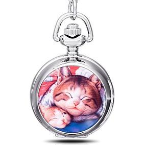 Infinito U Lazy Cat / Kitty / Kitten Esmalte De Cuarzo Relo