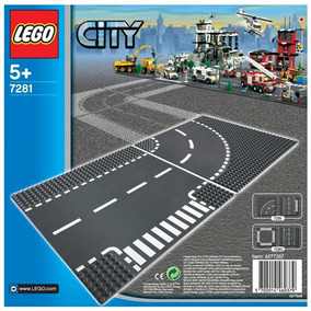 Lego Original T-junction & Curved Road Plates 7281
