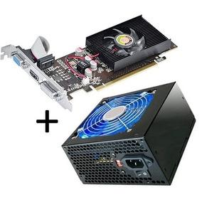 Placa Vídeo Geforce Gt210 1gb Ddr2 Hdmi 64bit + Fonte 420w