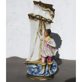 Historical*- Florero Con Barco Y Marinero-germany 6739-envío