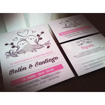 Invitaciones Boda Cumpleaños 15 Casamiento 2 Tarjetas