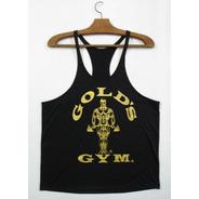 Regata Cavada De Musculação Gold's Gym Ouro Para Academia
