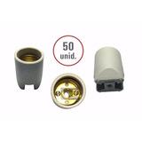 50 Unidades Bocal Soquete Receptáculo Porcelana E-27 Latão