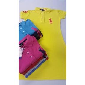 Kit 10 Camisetas Gola Redonda + 5 Vestidos Feminino Polo