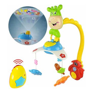 Movil Cunero Musical Bebe Proyector + Control Remoto