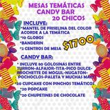 Mesas Temáticas Golosinas Personalizadas Candy Bar