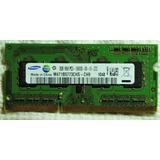 Memoria Samsung Sodimm Ddr3 2gb Pc3-10600 1333mhz Cl9
