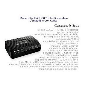 Modem Tp-link Td-8616 Adsl2+modem Banda Ancha