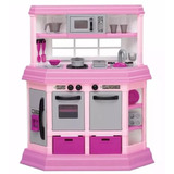Cocina Cocinita Para Niñas Con 22 Accesorios Custom Kitchen