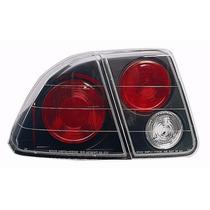 Lanterna Altezza Honda Civic 2001 A 2006 Máscara Negra + Led
