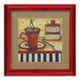 Quadro Decorativo Cafezinho Arte Vintage Em Madeira S/frete