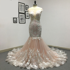 Vestido De Noiva Sereia Rodado Floral